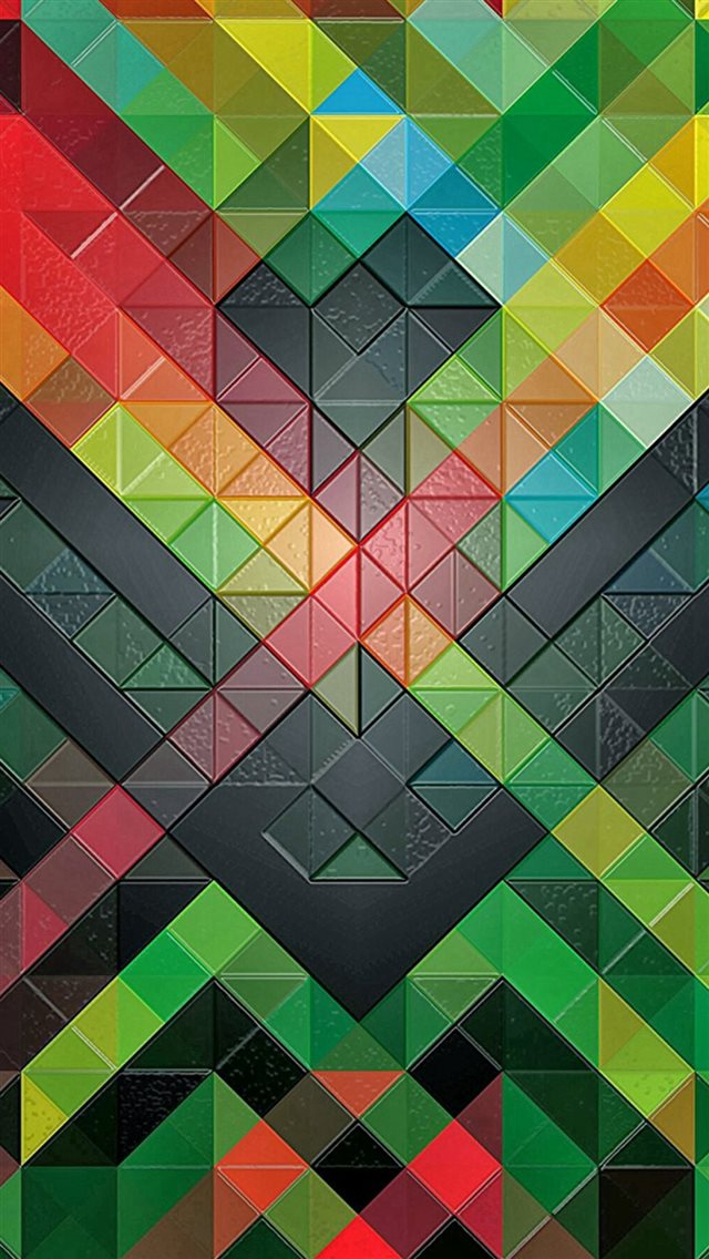 Colorful Diamonds Pattern iPhone 8 wallpaper
