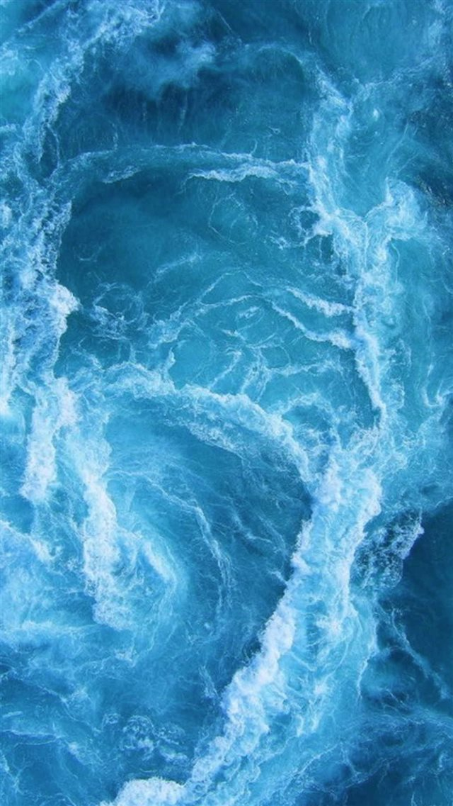 Swirling Blue Ocean Waves iPhone 8 wallpaper