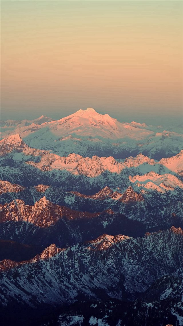Mountain Blue Snow In Sunset Shadow Nature iPhone 8 wallpaper