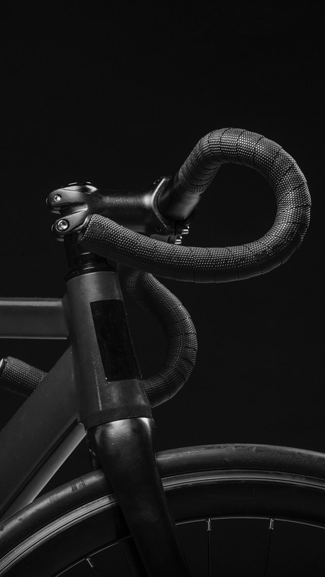 Bicycle Dark Bw Minimal Nature iPhone 8 wallpaper