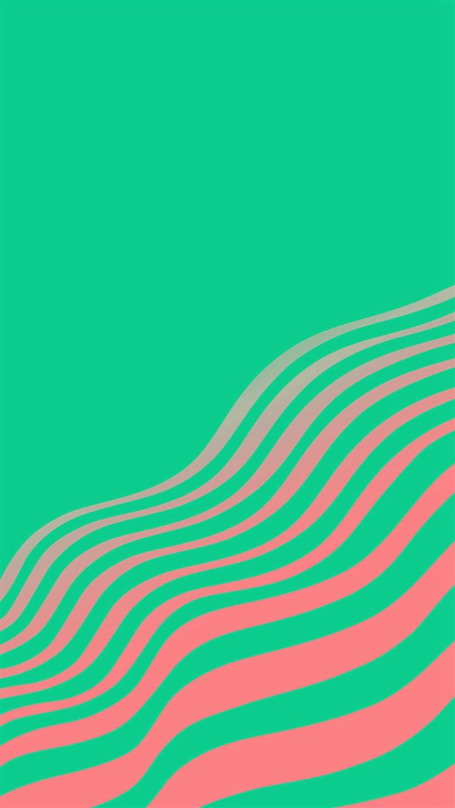 Line Simple Minimal Curve Pattern Green iPhone 8 wallpaper