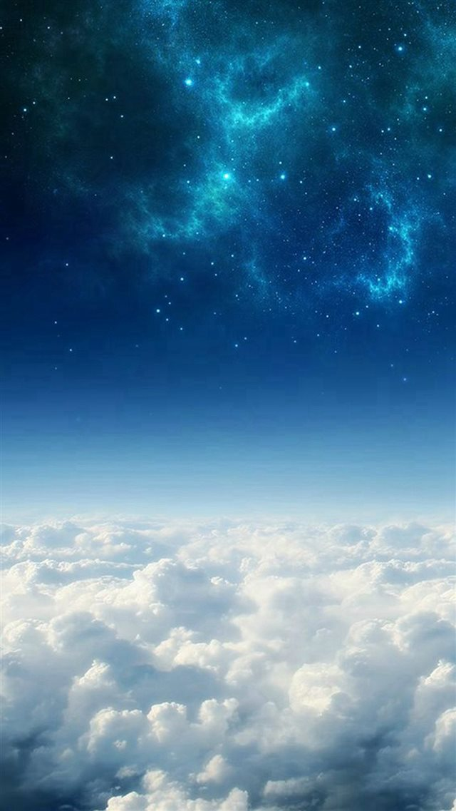 Space Above The Clouds iPhone 8 wallpaper