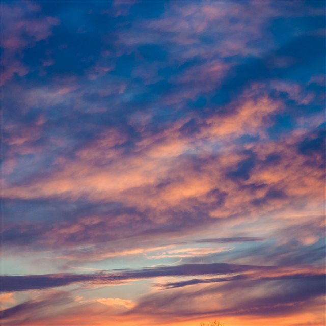 Nature Clouds Sunset Porous iPad Pro wallpaper