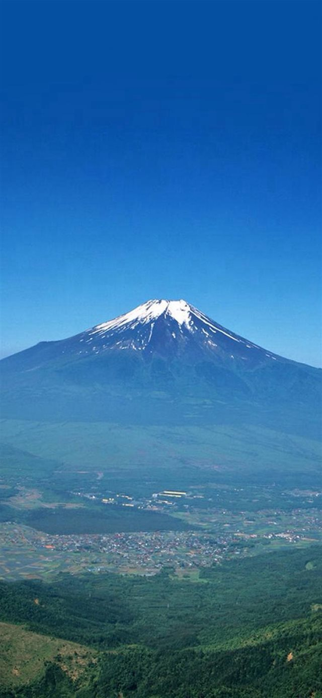 Nature Volcano Mountain Remote Scenery Plain Land iPhone 11 wallpaper