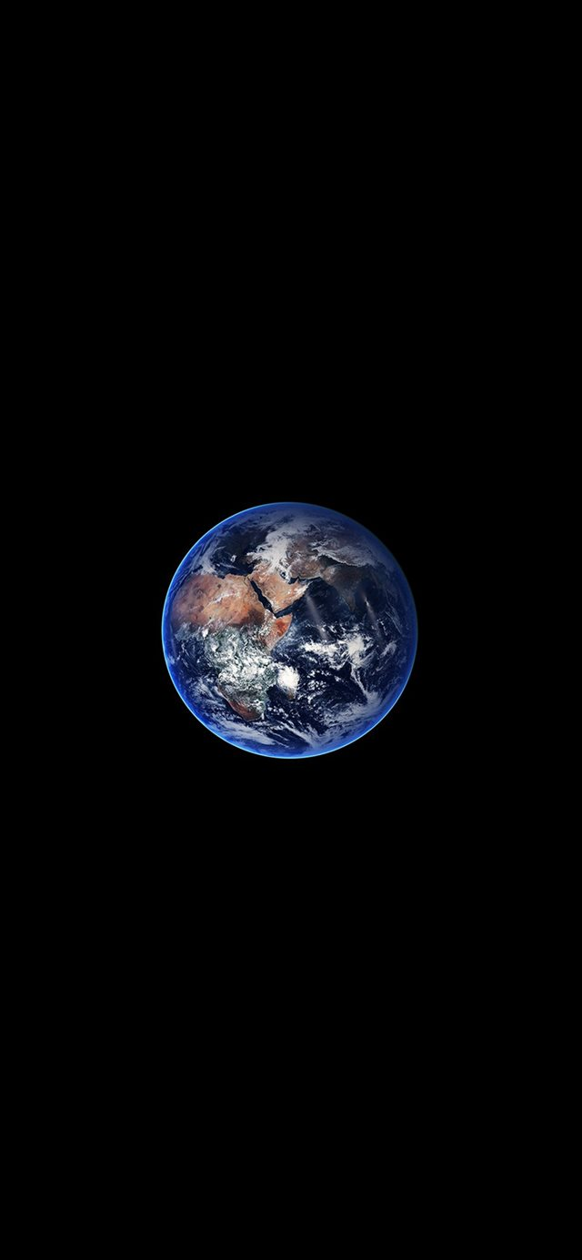 Earth Minimal Small Nature Art Space Dark iPhone X wallpaper