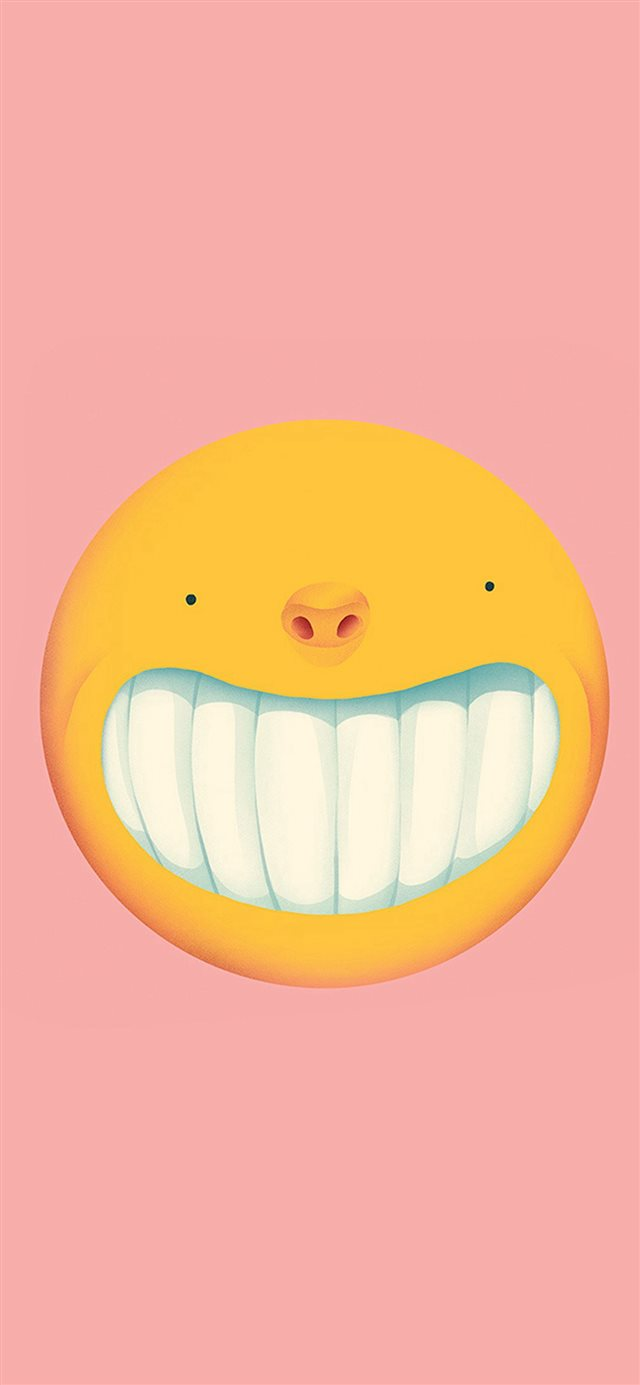 Smile Love Pink Cute Illustration Art iPhone X wallpaper