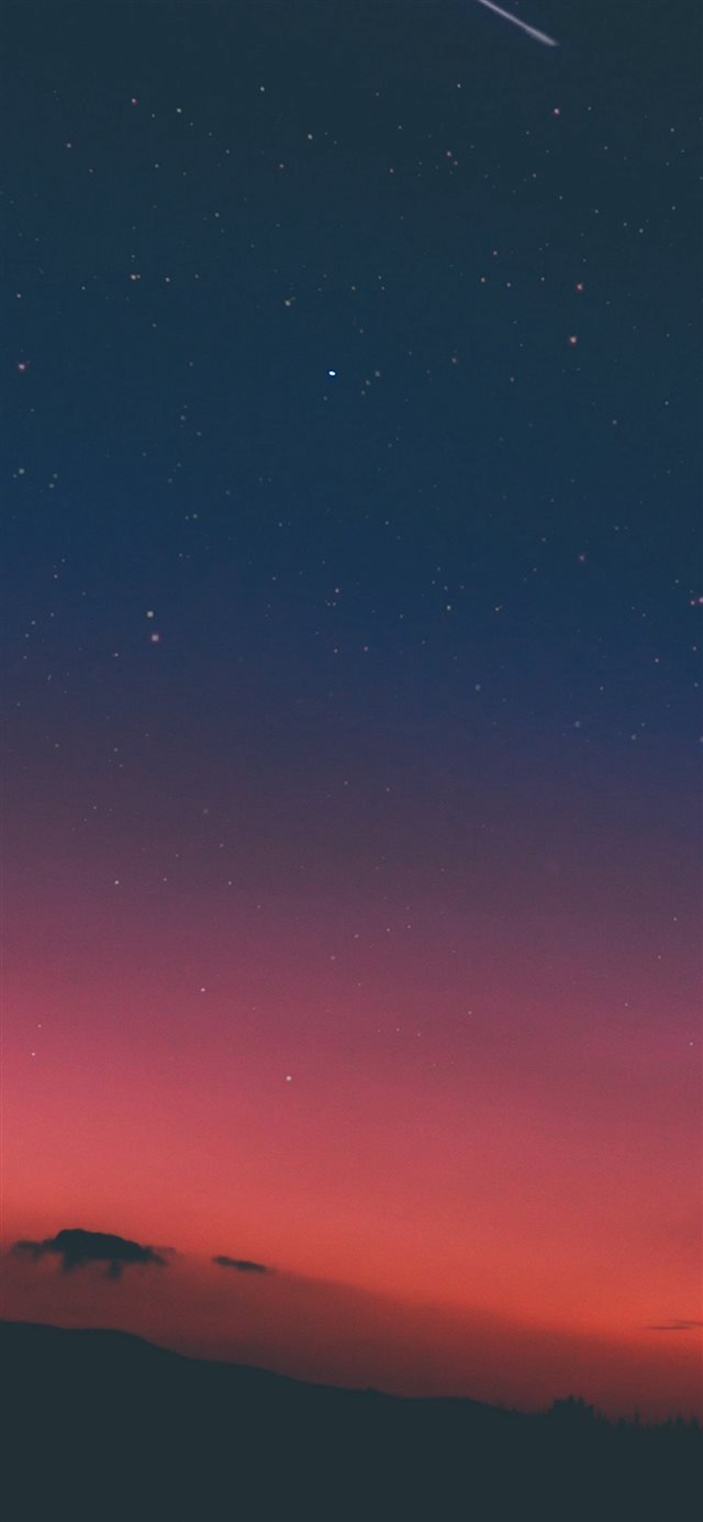Night Sky Sunset Pink Nature iPhone X wallpaper
