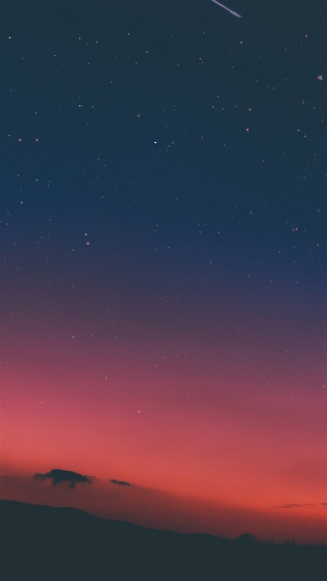 Night Sky Sunset Pink Nature iPhone 8 wallpaper