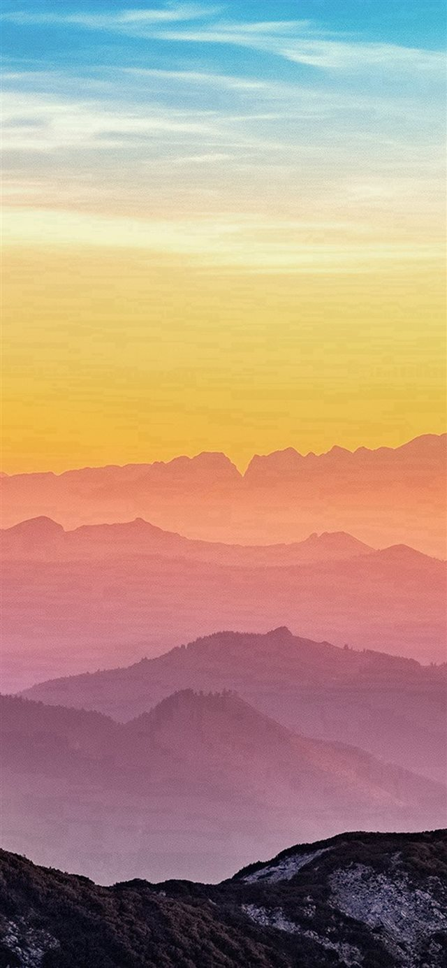 Rainbow Mountain Color Nature iPhone X wallpaper