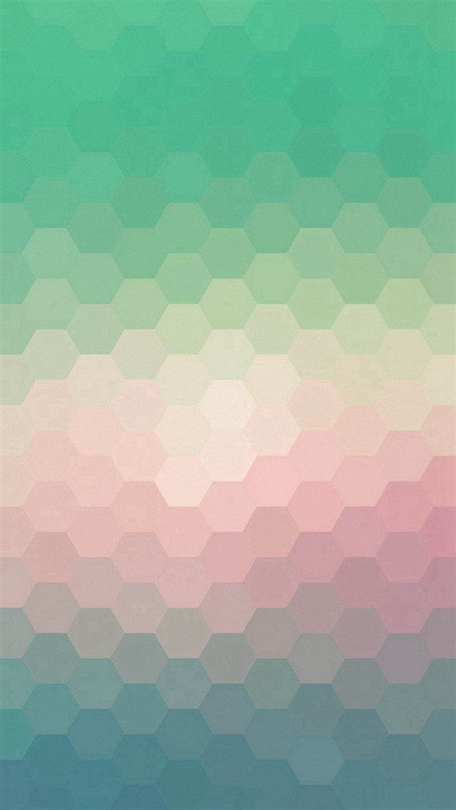 Hexagon Green Red Pattern Background iPhone 8 wallpaper