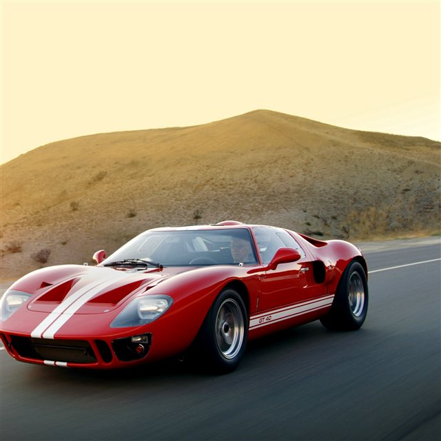 Ford Gt40 MKI Superformance 2007 Red Sports Car iPad Pro wallpaper