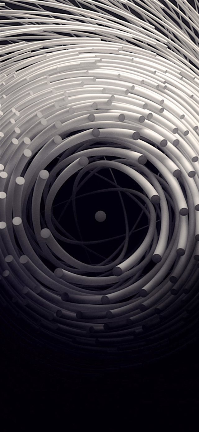 Circle 3D Dark Abstact Illustration Art iPhone X wallpaper