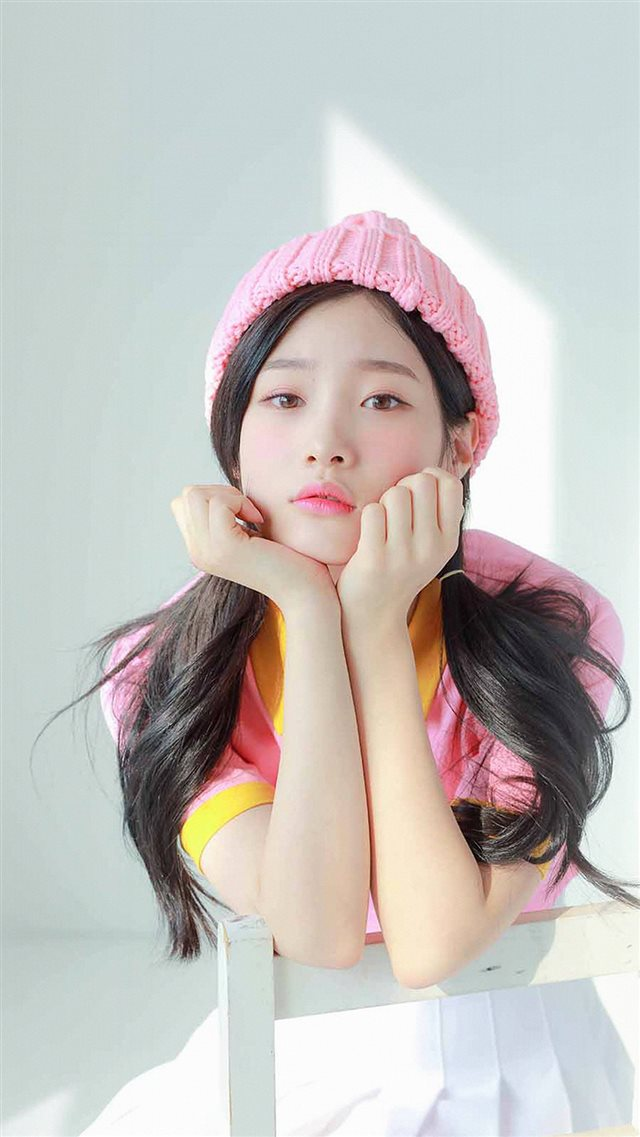 Ioi Chaeyeon Girl Pink White Asian iPhone 8 wallpaper