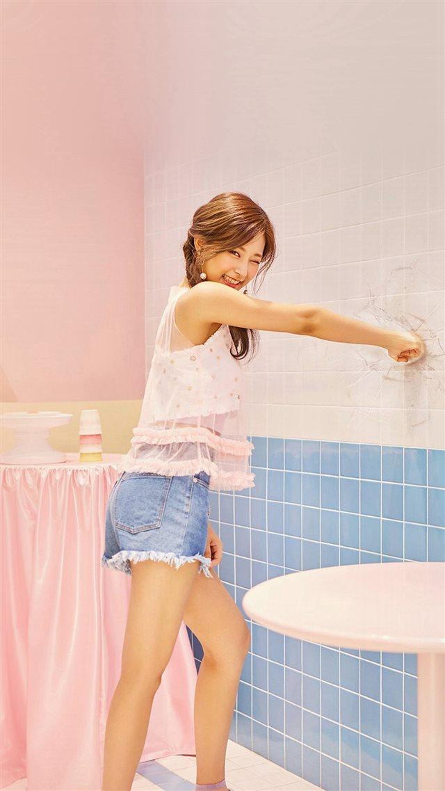 Tzuyu Kpop Twice Girl Cute Pink Iphone 8 Wallpaper Download Iphone