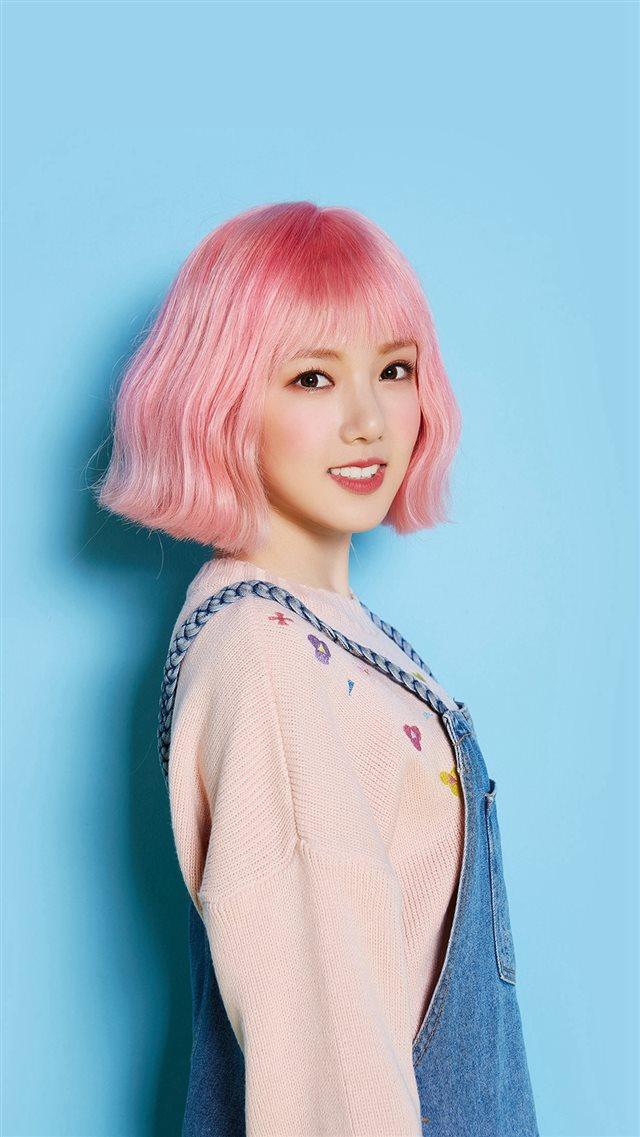 Pink Hair Asian Kpop Girl Iphone 8 Wallpaper Download Iphone