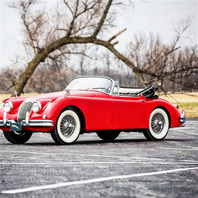 Jaguar XK150 Drophead 1961 Convertible Red iPad Pro wallpaper
