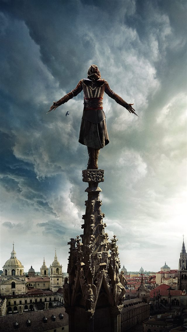 Assasins Creed Film Poster Illustration Art Hero iPhone 8 wallpaper