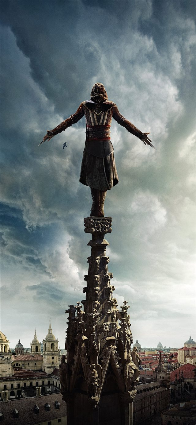 Assasins Creed Film Poster Illustration Art Hero iPhone 11 wallpaper