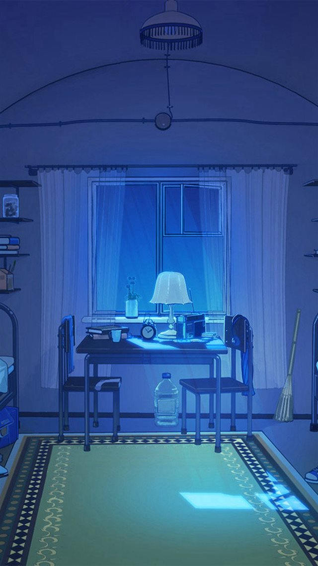 Arsenic Painting Blue Room Art Illustration iPhone 8 wallpaper