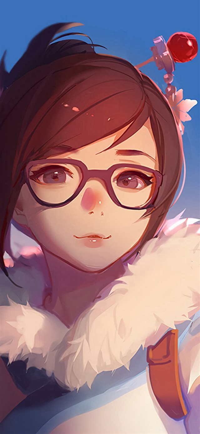 Mei Overwatch Game Art Illustration Cute iPhone X wallpaper