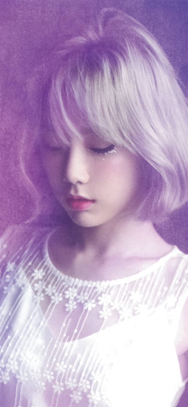 Taeyeon Kpop Girl Asian Purple iPhone X wallpaper