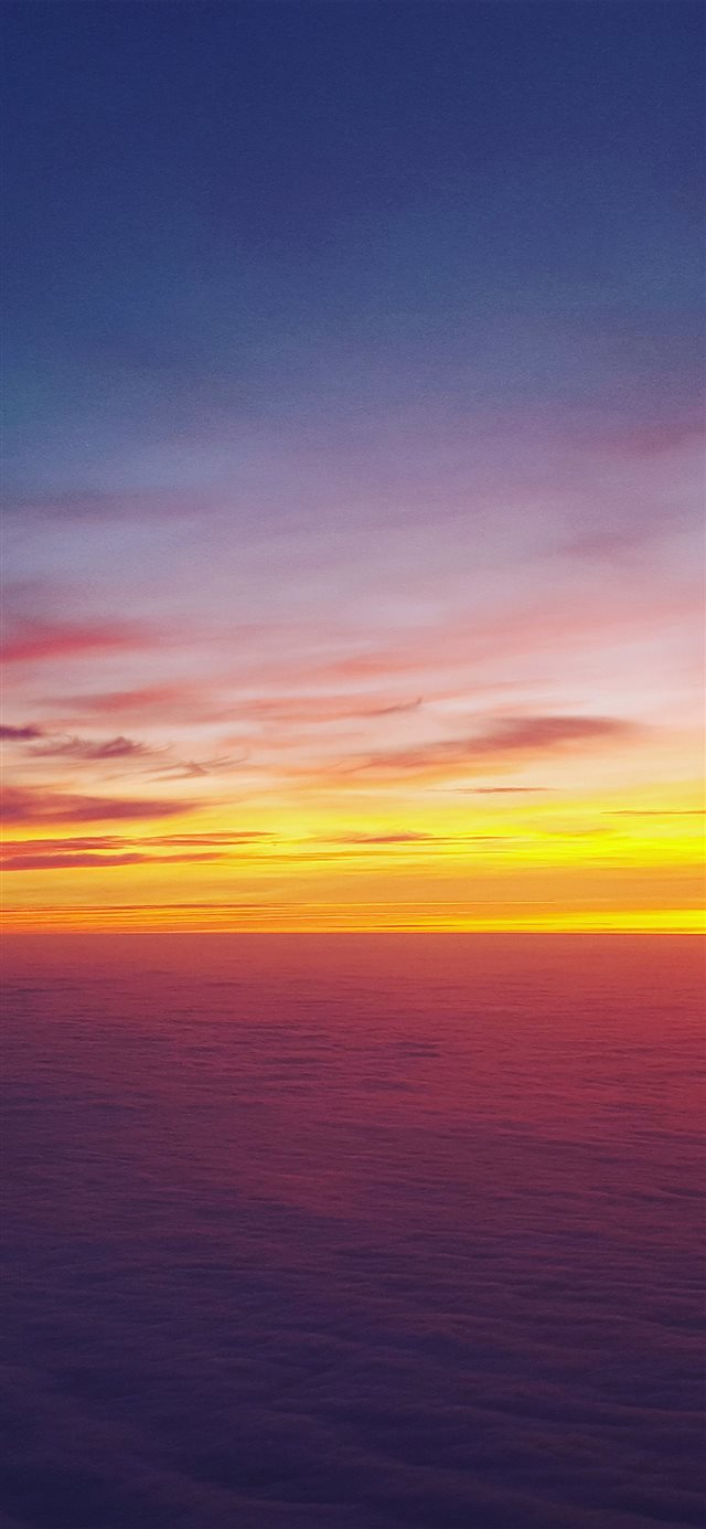 Sea Ocean Skyline Sunset Sky Nature iPhone 11 wallpaper