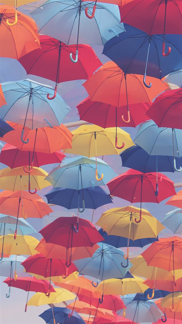 Umbrella Party Color Pattern iPhone 8 wallpaper