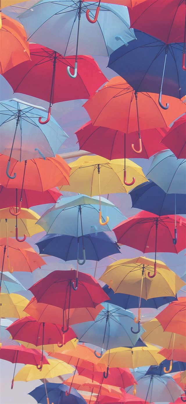 Umbrella Party Color Pattern iPhone 11 wallpaper