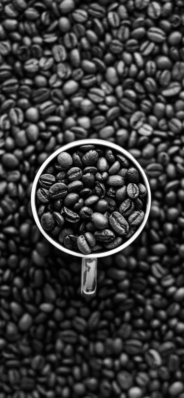 Coffee Bokeh Pattern Bw Dark iPhone 11 wallpaper