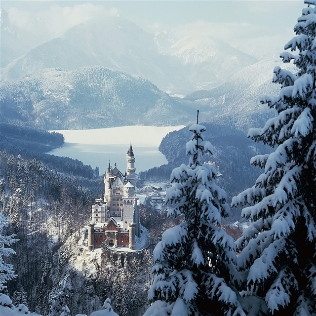 Castle germany wood mountains solitude iPad Pro wallpaper