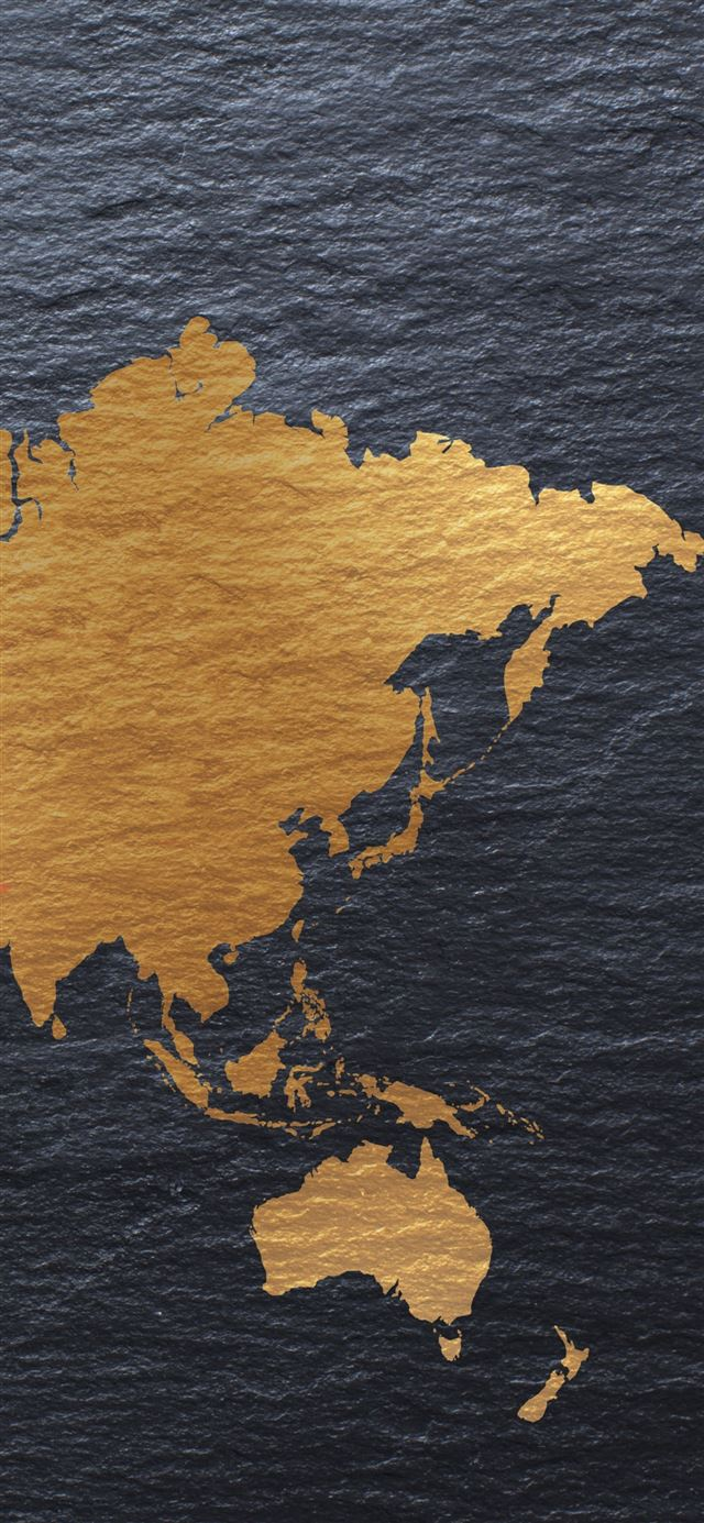 Creative continents iPhone 11 wallpaper