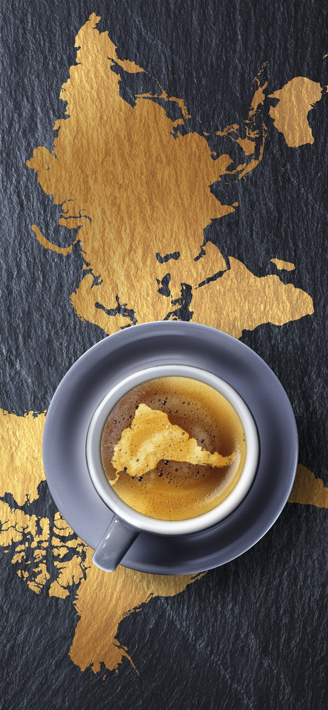 Coffee foam beverage iPhone X wallpaper