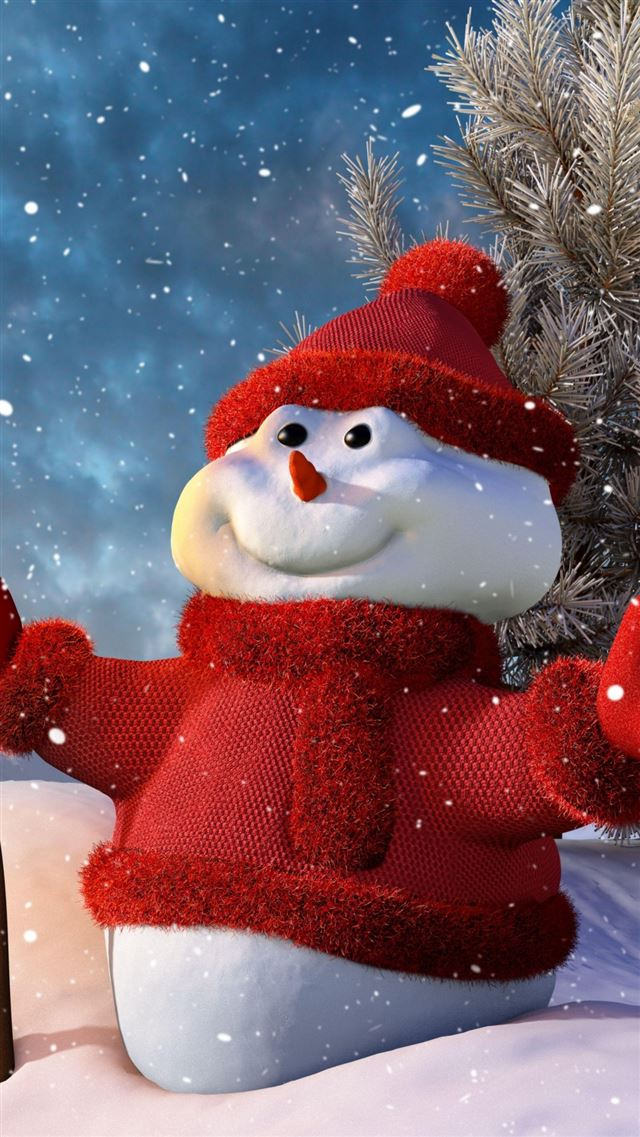 Christmas snowman iPhone 8 wallpaper