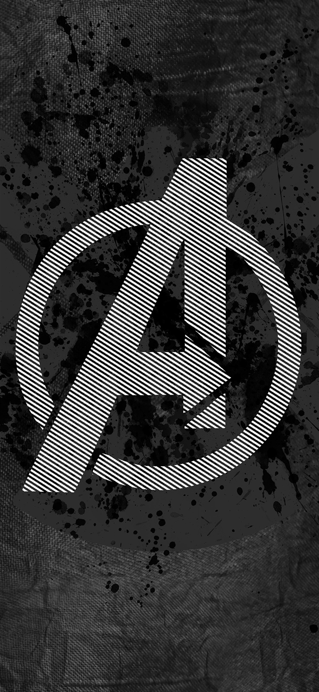 Avengers logo art iPhone 11 wallpaper
