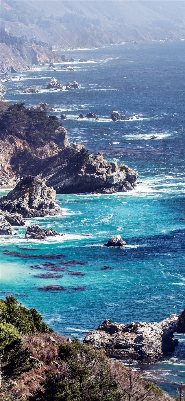 Ocean rock iPhone 11 wallpaper