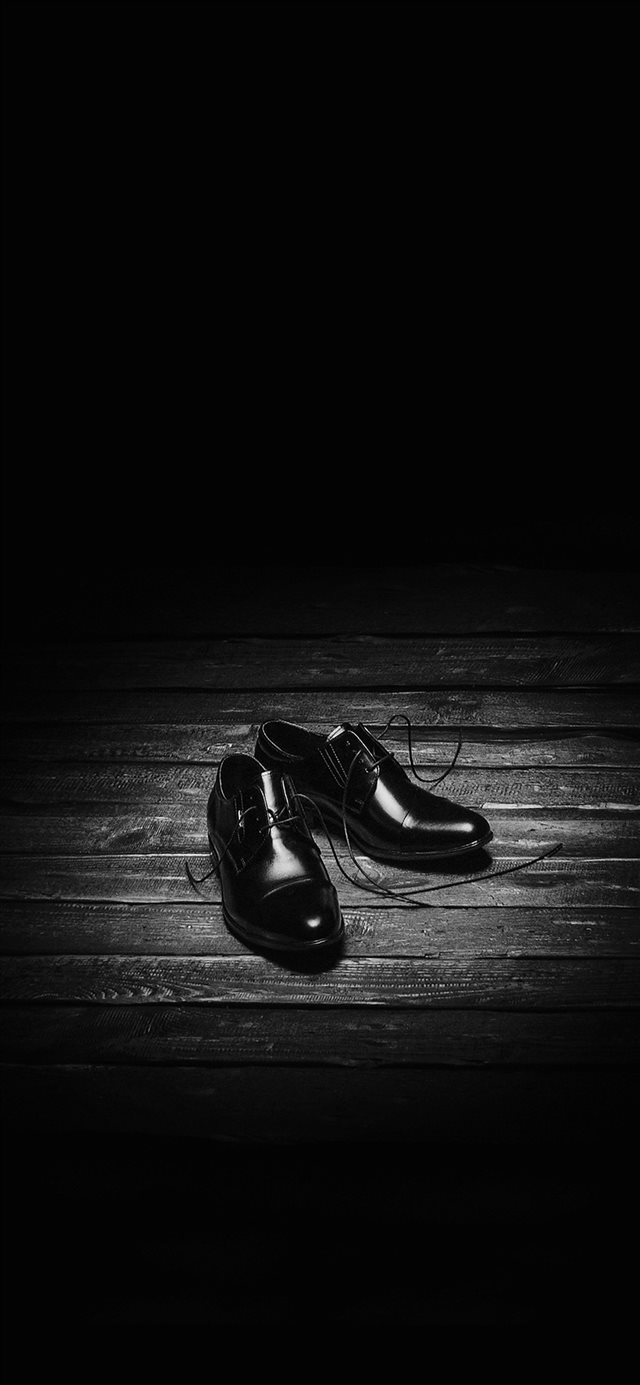Dark Shoe Minimal Bw iPhone X wallpaper