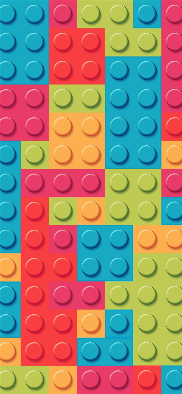 Blocks rainbow lego art pattern pastel iPhone 11 wallpaper