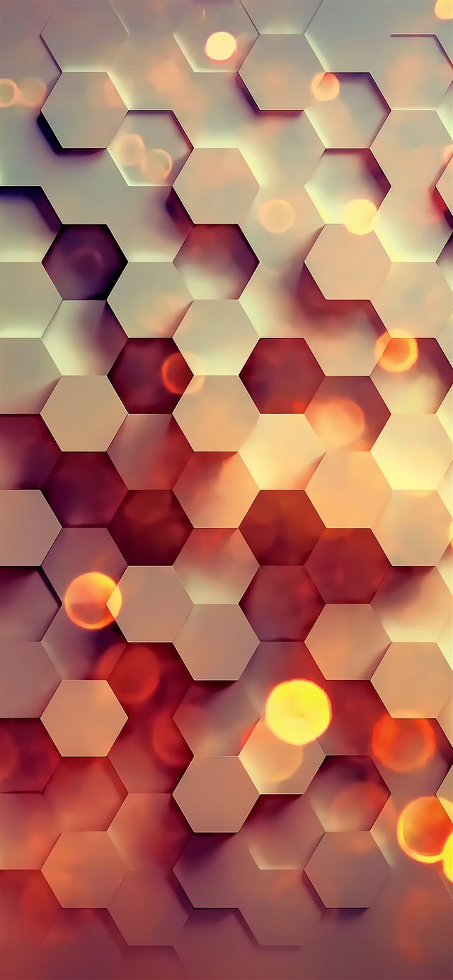 Honey hexagon digital abstract iPhone 11 wallpaper