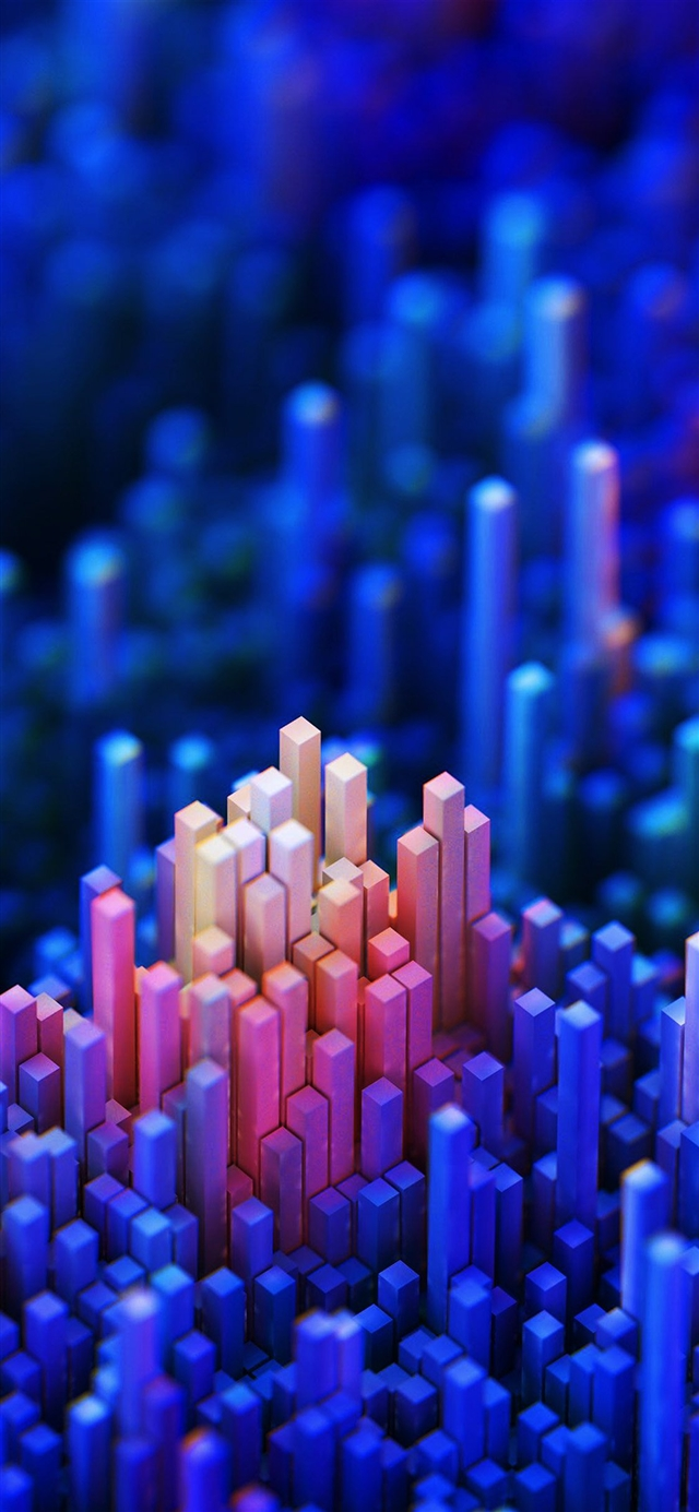 Digital art square bokeh pattern background iPhone X wallpaper