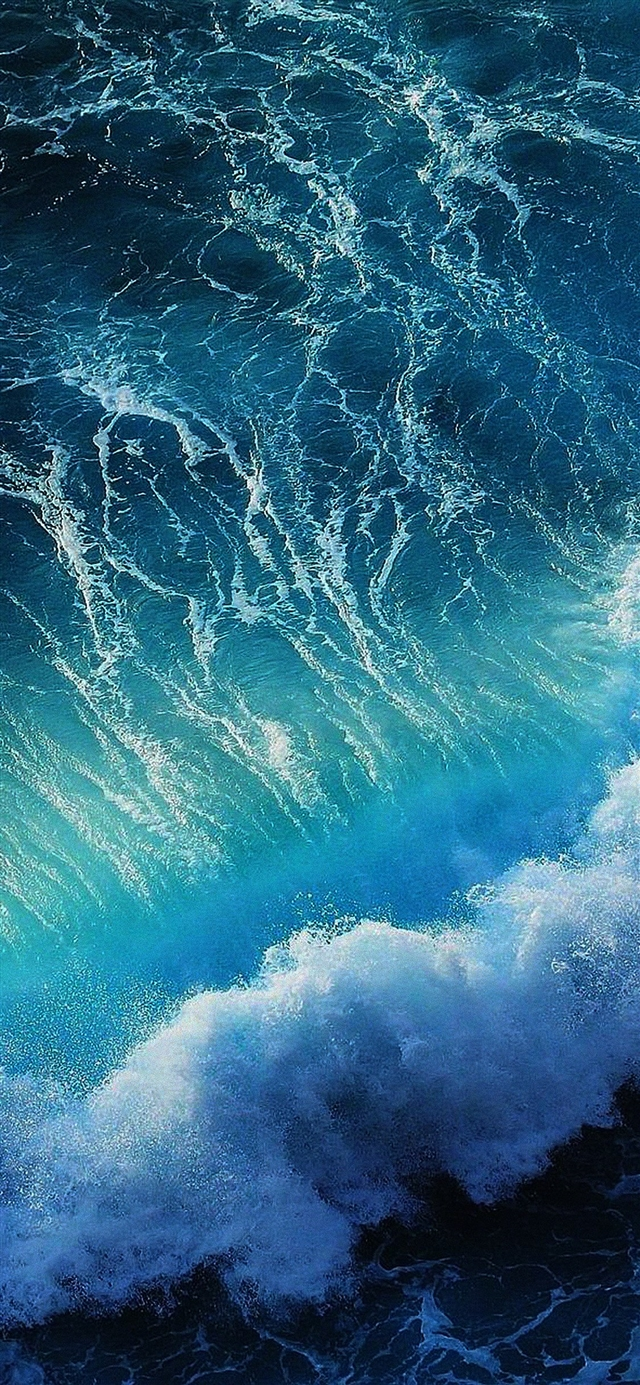 Wave ocean iPhone X wallpaper