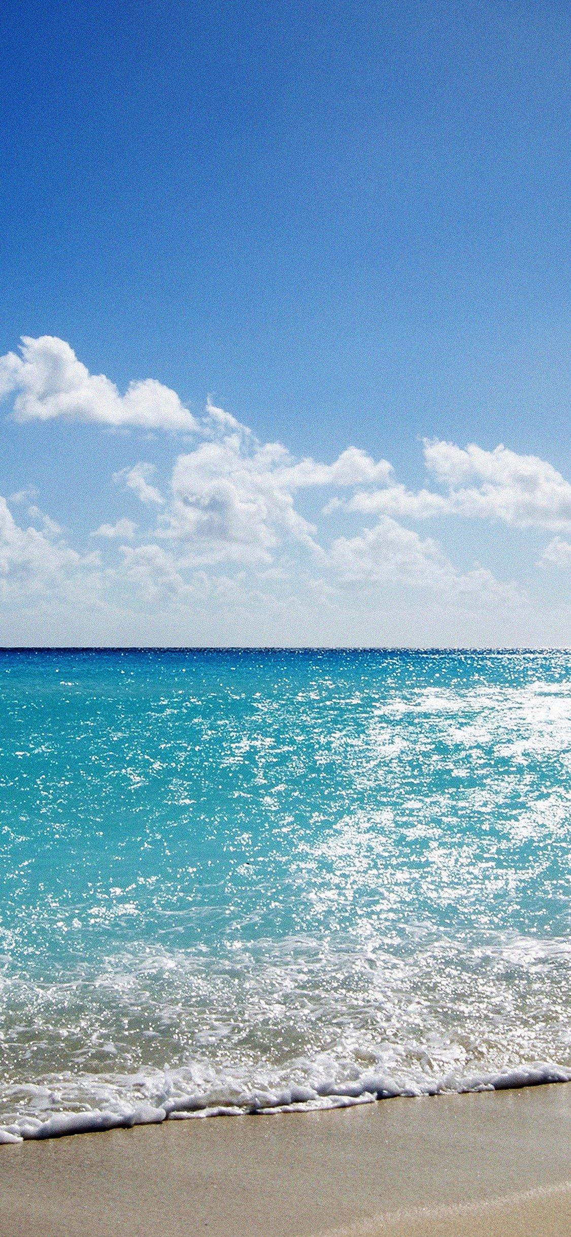 Sea Water Ocean Sky Sunny Iphone X Wallpaper Download Iphone