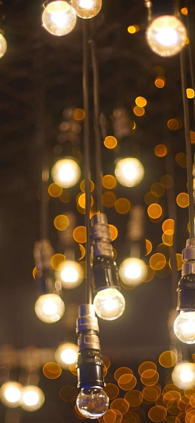 City bokeh light iPhone X wallpaper