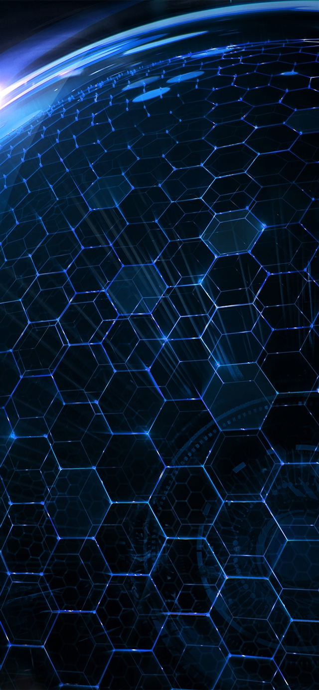 Butterfly pattern globe iPhone X wallpaper