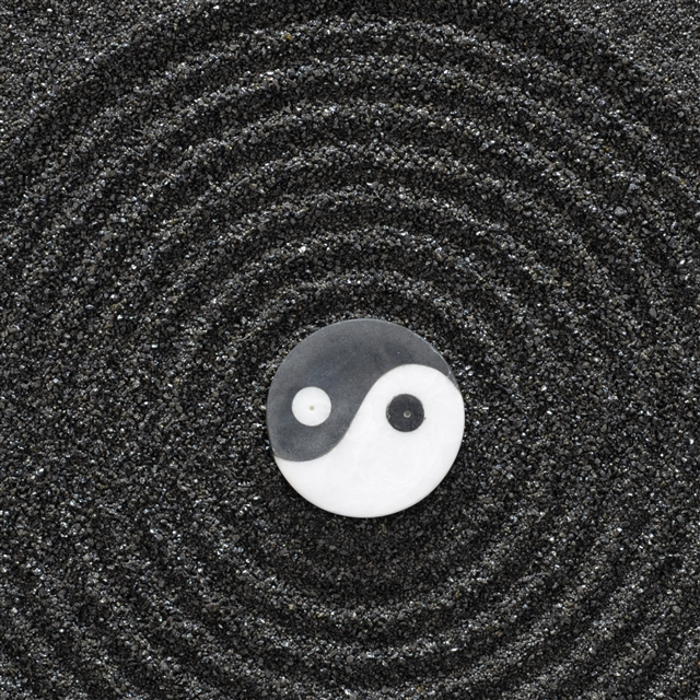 Yin yang stones earth symbol harmony iPad Pro wallpaper
