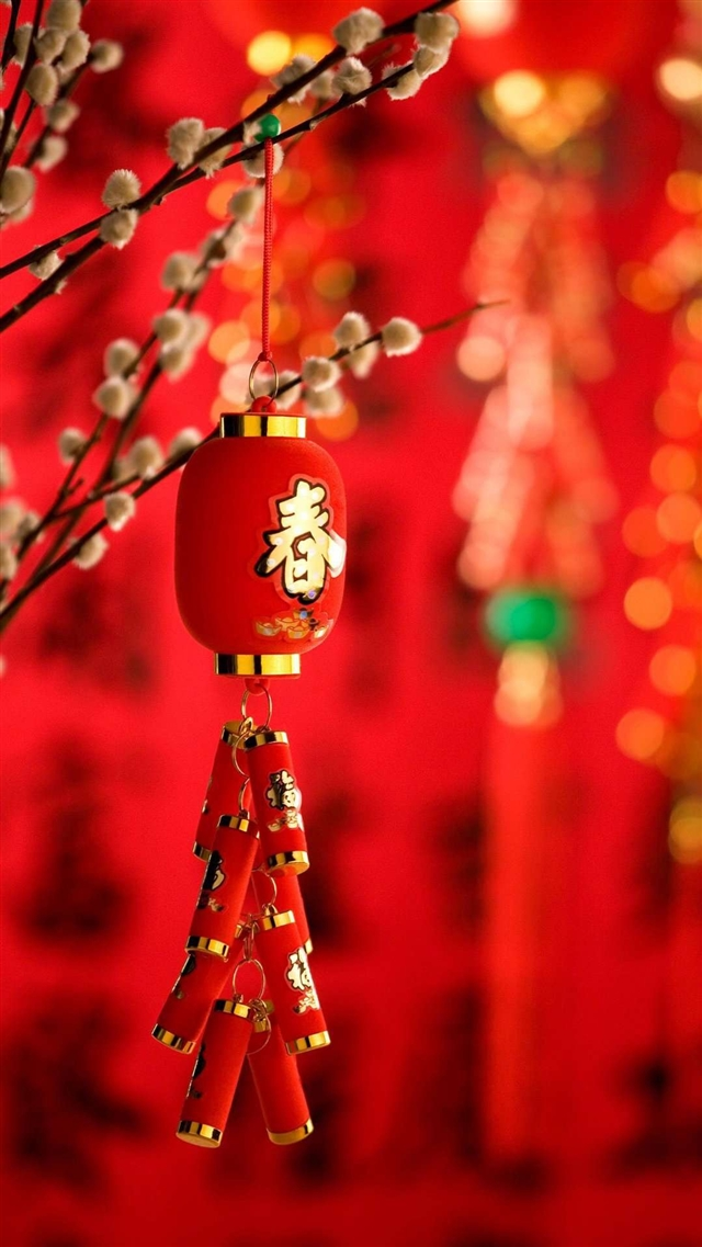 Chinese lanterns iPhone 8 wallpaper