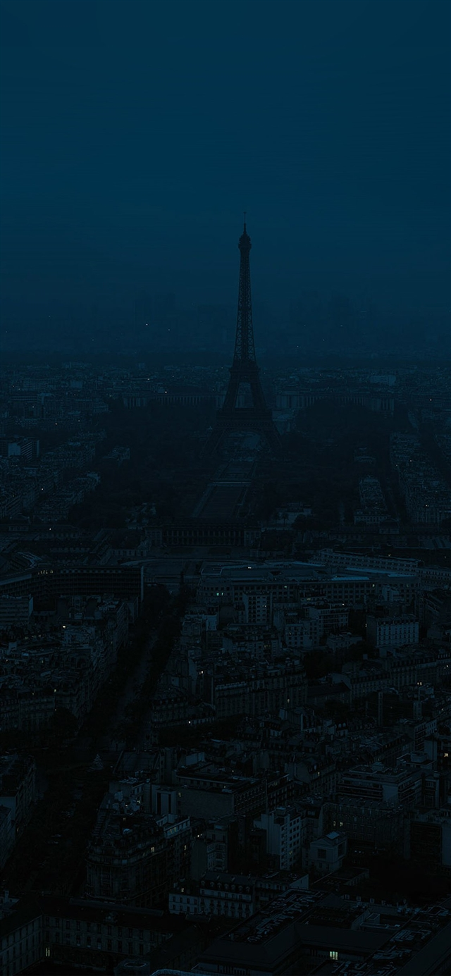 Paris dark blue city iPhone X wallpaper