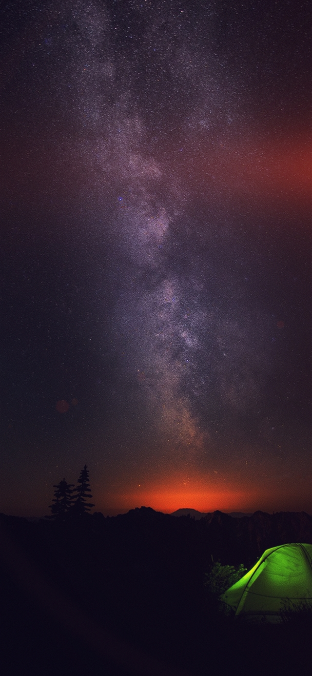 Camping night star  iPhone X wallpaper