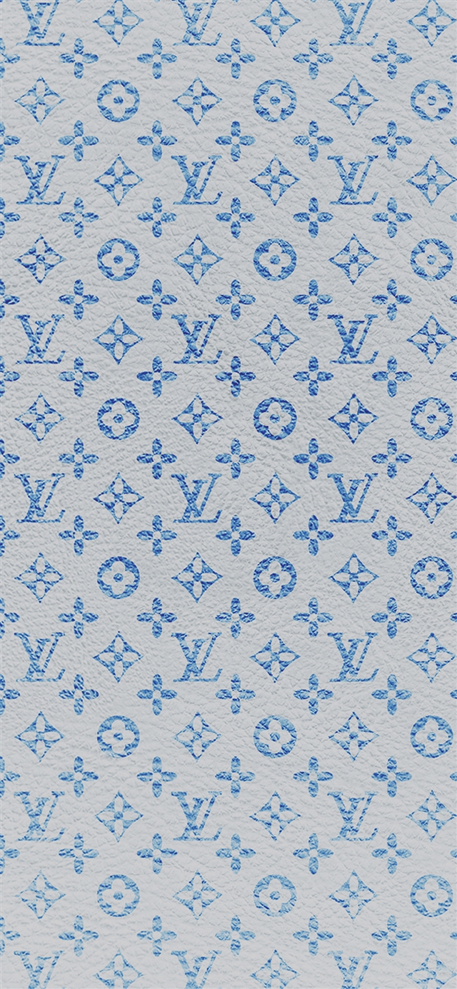 Louis Vuitton blue pattern art iPhone X wallpaper