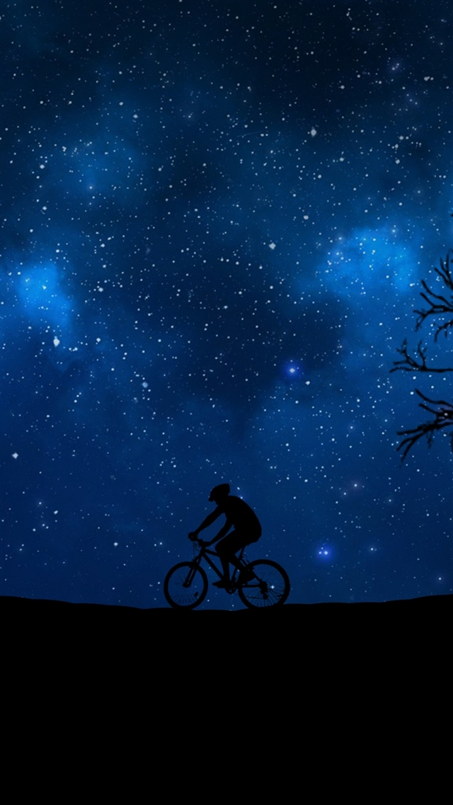 Cycling silhouette iPhone 8 wallpaper