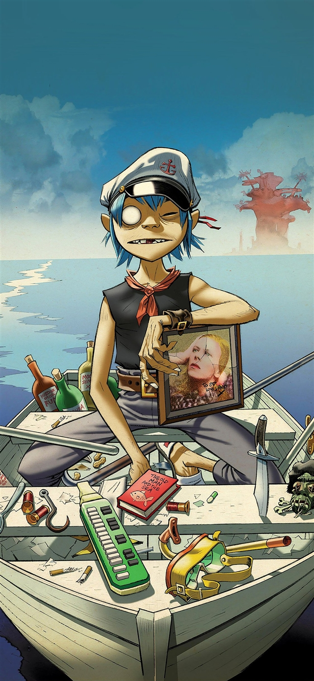Gorillaz boat music iPhone X wallpaper